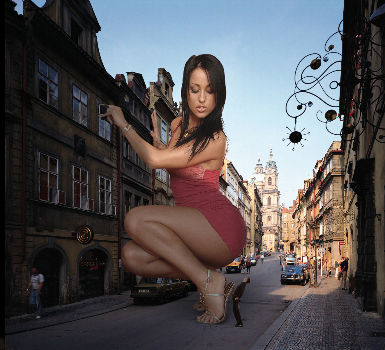 Prague 50 Foot Woman by Accasbel