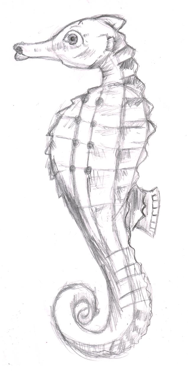 Seahorse Sketch by Ink20