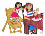 Drew and Linda by EmperorNortonII