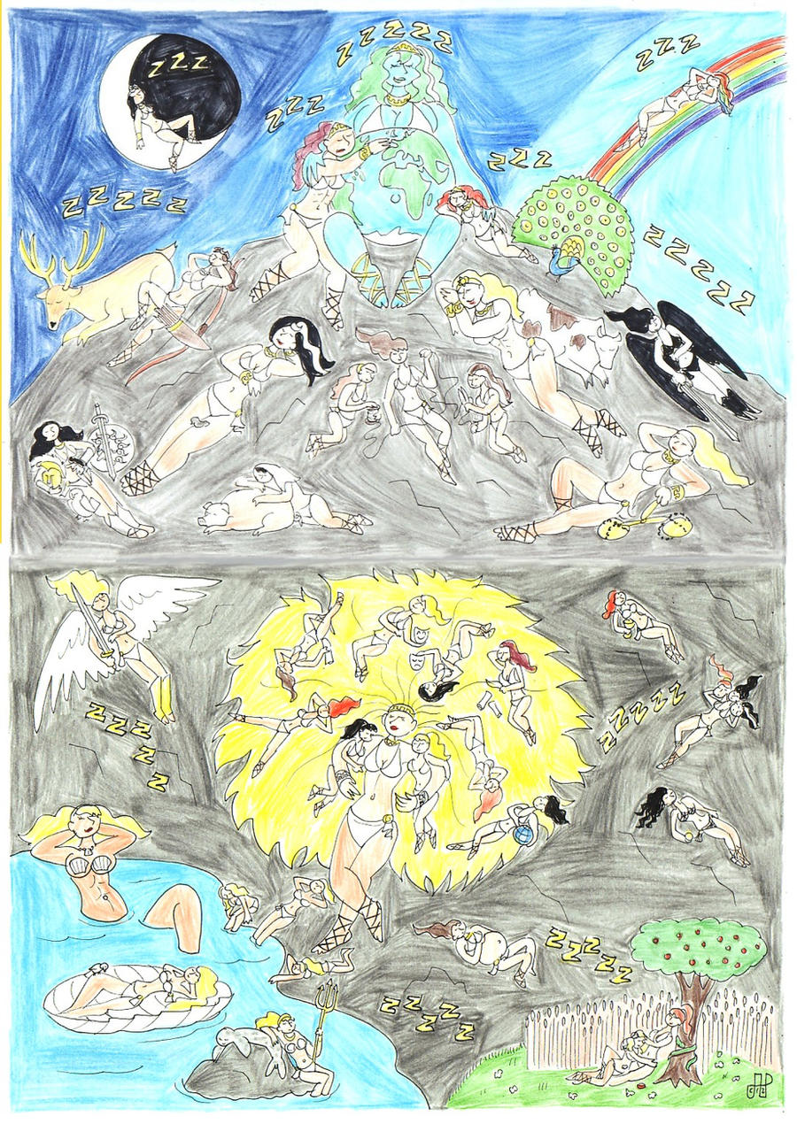 It is a photo of Luscious Mount Olympus Greek Mythology Drawing