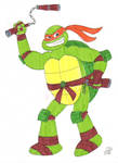 Ninja Turtle Michelangelo by EmperorNortonII