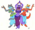 Belly Dancing Cats