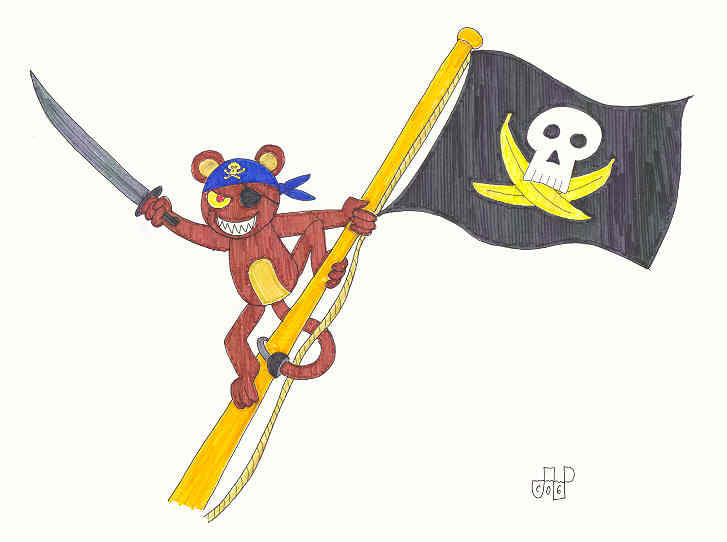 Jagger the Monkey Pirate by EmperorNortonII