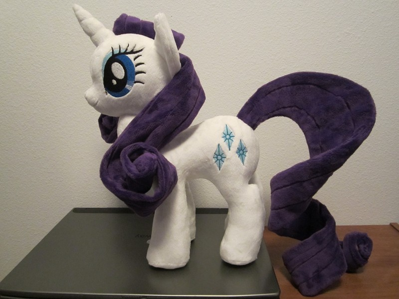 My little pony Rarity Plushie by Little-Broy-Peep