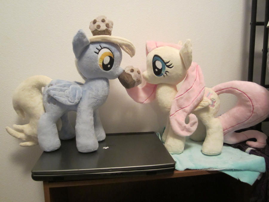 Derpy hooves and fluttershy plush by Little-Broy-Peep