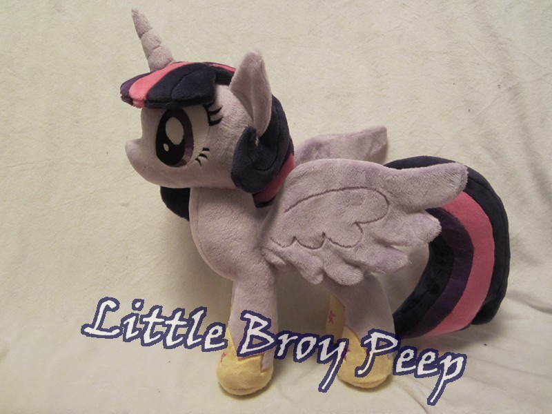 MLP Twilight sparkle Alicorn Plushie (commission) by Little-Broy-Peep