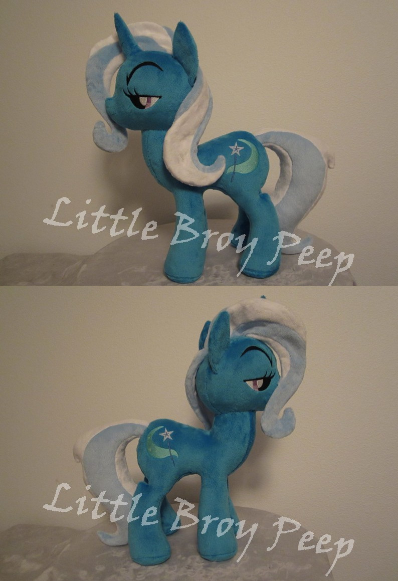 my little pony Trixie plush (commission) by Little-Broy-Peep