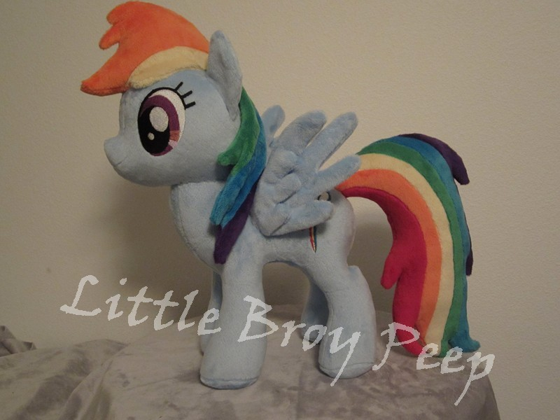 my little pony Rainbow dash plush by Little-Broy-Peep
