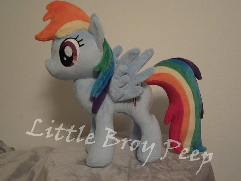 my little pony Rainbow dash plush by Little-Broy-Peep