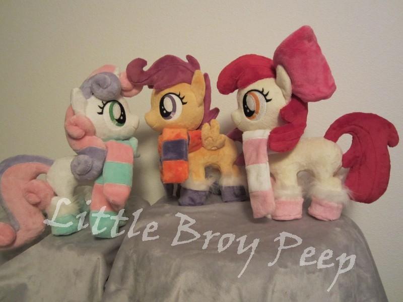 my little pony Cutie Mark crusaders plush by Little-Broy-Peep