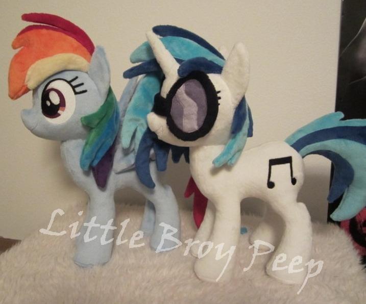 mlp Rainbow Dash And Vinyl Scratch plush by Little-Broy-Peep