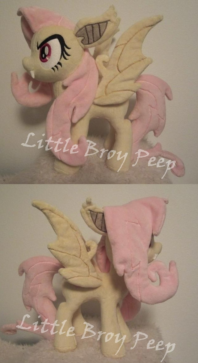 mlp Flutterbat Plush (sold) by Little-Broy-Peep