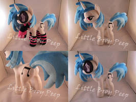 mlp Vinyl Scratch DjPon3 Plush (commission) by Little-Broy-Peep