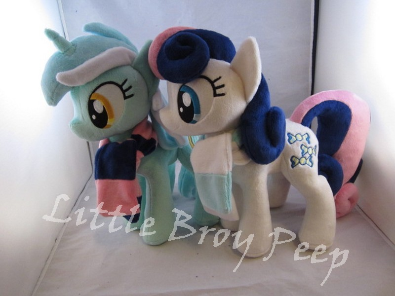 Lyra And Bonbon plushies by Little-Broy-Peep