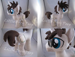 mlp OC Blank Novel plush (commission)