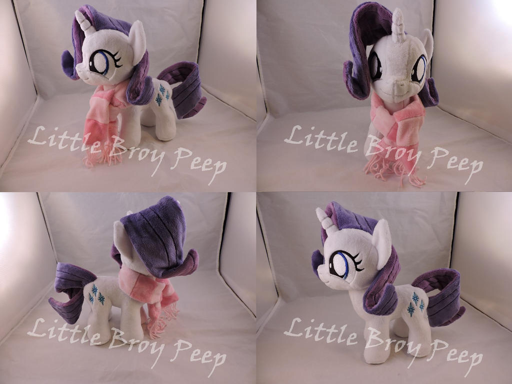 MLP Filly Rarity Plush (commission) by Little-Broy-Peep