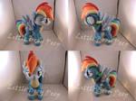 MLP Wonderbolt Rainbow Dash Plush (commission)
