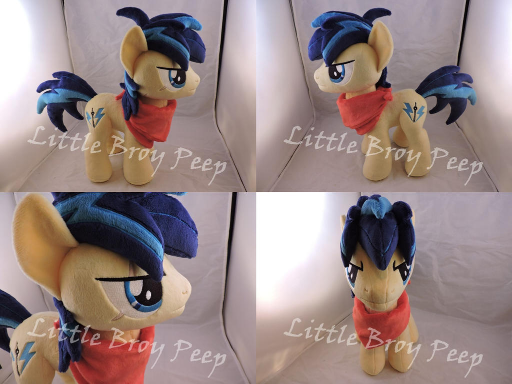 MLP OC Thunder Storm Plush (commission) by Little-Broy-Peep