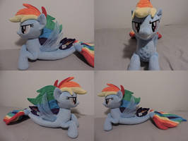 MLP Seapony Rainbow Dash  Plush (commission) by Little-Broy-Peep