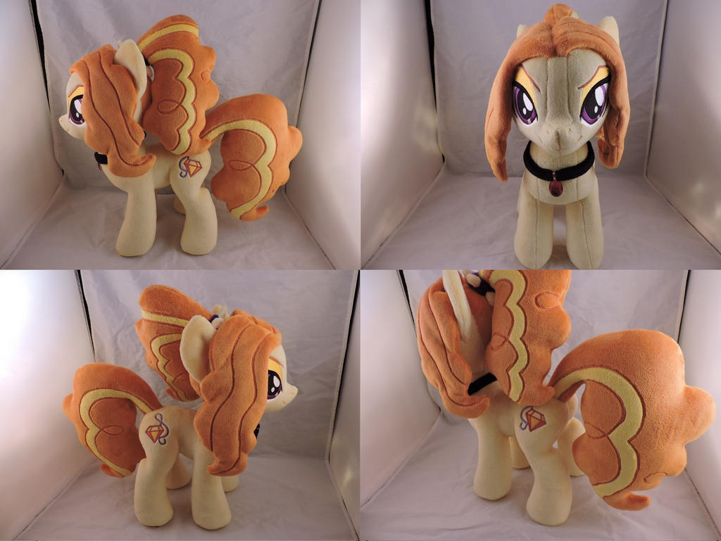MLP Adagio Dazzle Plush (commission) by Little-Broy-Peep