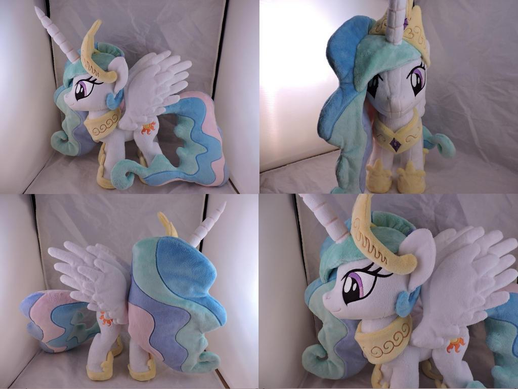 MLP Princess Celestia Plush (commission) by Little-Broy-Peep