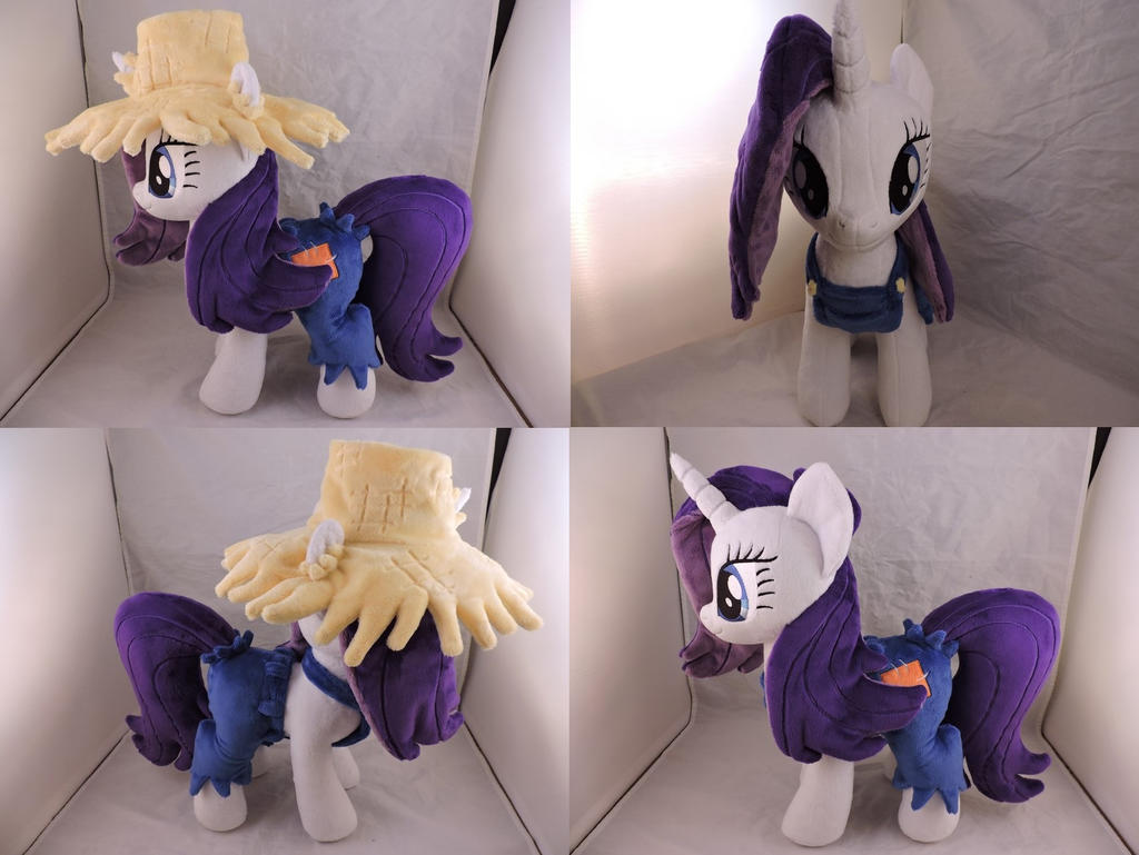 MLP Rarity Plush (commission) by Little-Broy-Peep