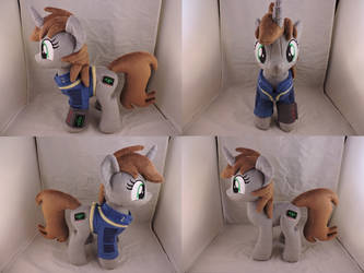 MLP Littlepip Plush (commission) by Little-Broy-Peep