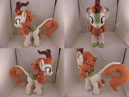MLP Autumn Blaze Plush (commission) by Little-Broy-Peep
