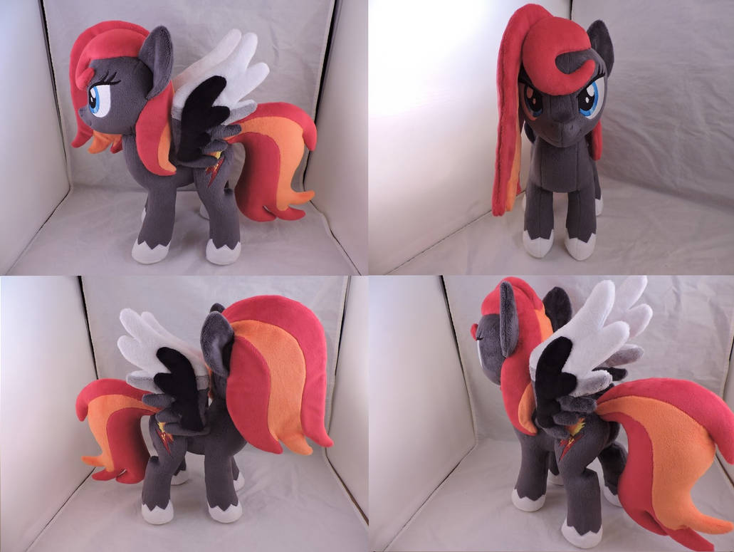 MLP OC Flamerunner Plush (commission) by Little-Broy-Peep