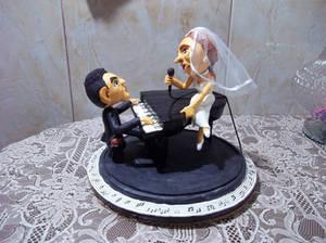Caketop Bride And Broom