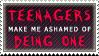 Teenagers Make Me Ashamed by AzysStamps