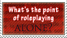 Roleplaying Alone by AzysStamps