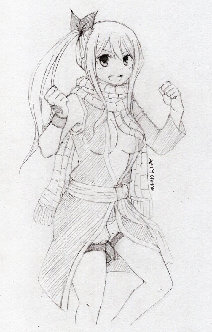 lucy heartfilia sketch by ayumichime on deviantart
