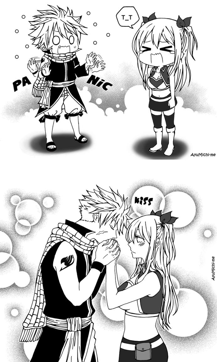 Fairy Tail Levy And Gajeel Kiss Natsu and Lucy by AyuM...