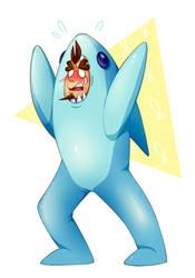 Left Shark Arthur Commission by thepurpah