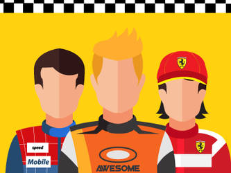 Free vector Racing Avatars by greatdiane