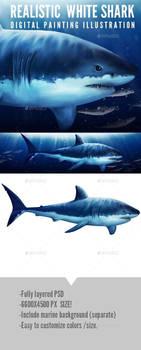 SHARK! stock digital painting