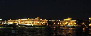 Bridge to Vasiley's at Night by A3ulez