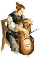 Stephen Maturin Playing Cello by A3ulez