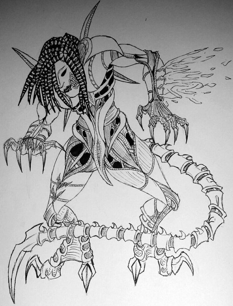 Suicidal Xenomorph by CrisahitnaHyscirs
