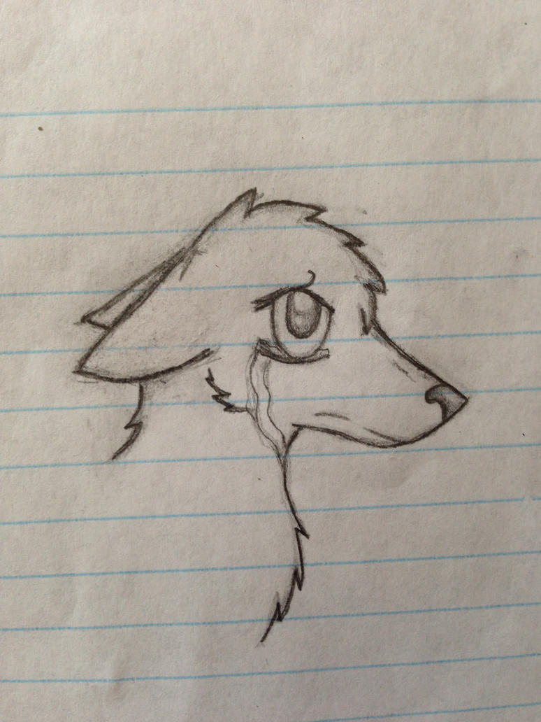 rough crying wolf sketch by icefire101 on deviantart