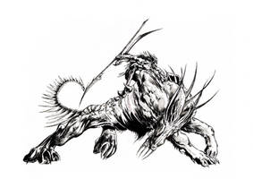 beast rider - ink by mumitrold