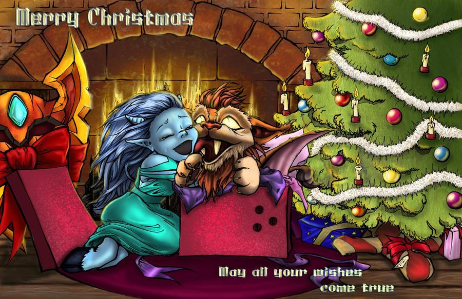 Wow Christmas.Wow Xmas Card Merry Christmas By Mumitrold On Deviantart