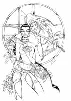 mack's tigerlily'n scarab -ink by mumitrold