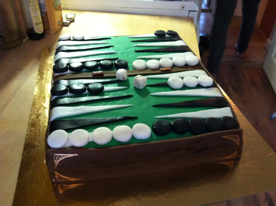 Backgammon Cake by mumitrold