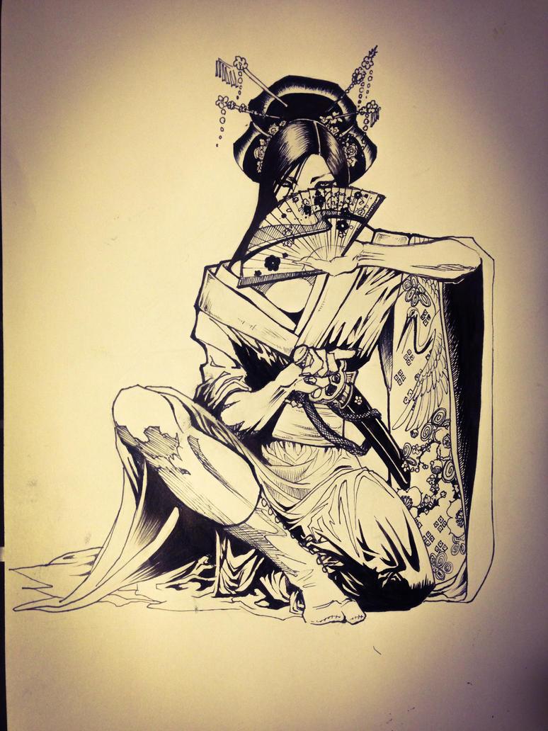 Female warrior by mumitrold