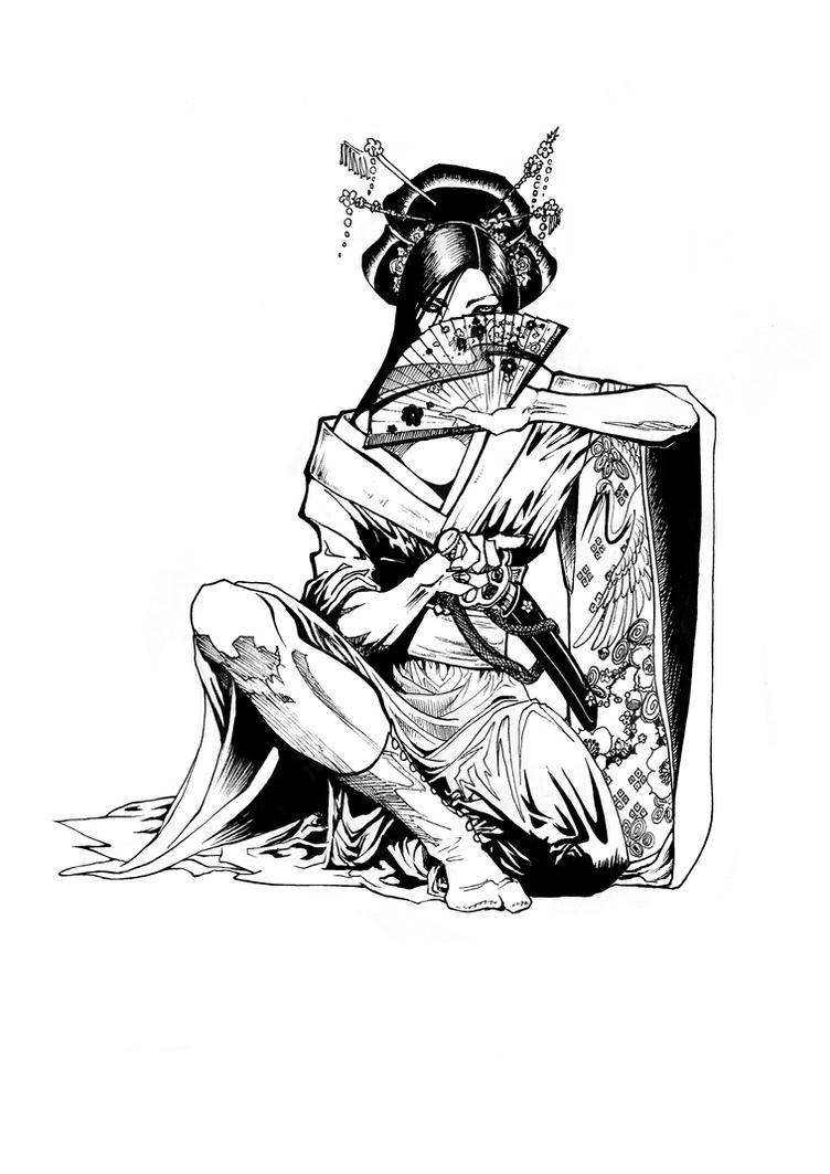 Samurai Woman by mumitrold