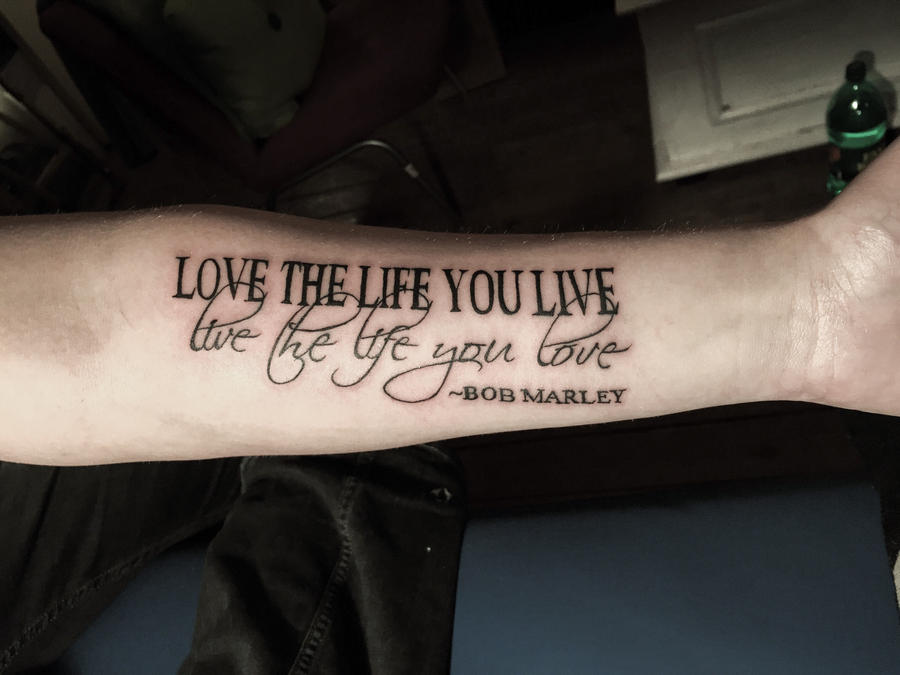 First text tattoo by mumitrold