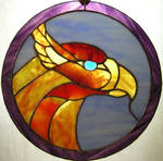 firebird stained glass circle