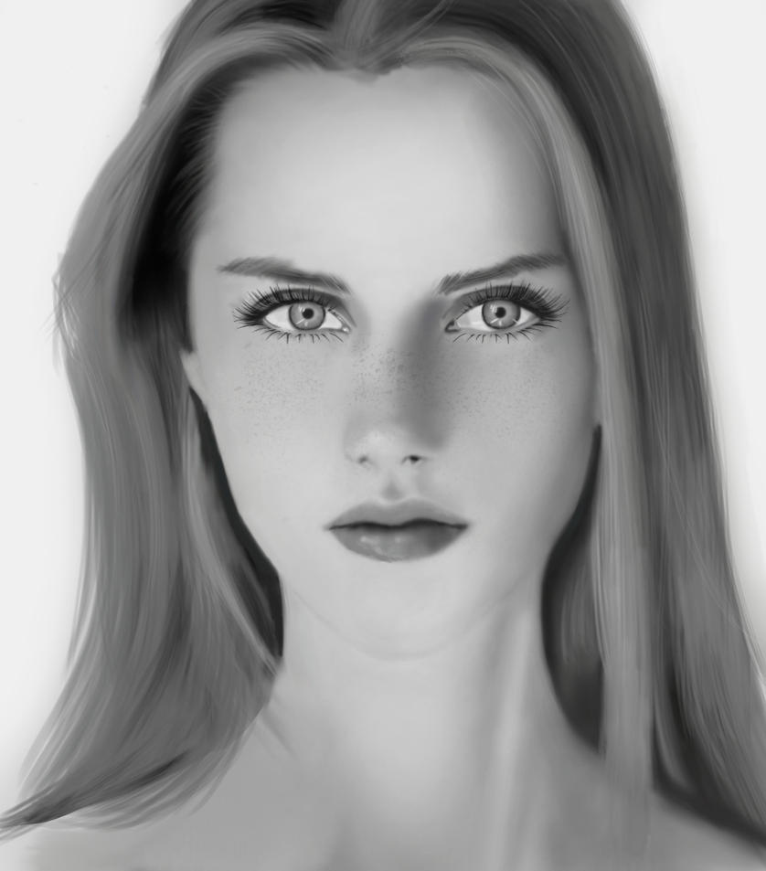 Black And White Portrait by MTF40